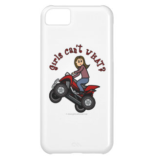 Girl on Red Four Wheeler iPhone 5C Case