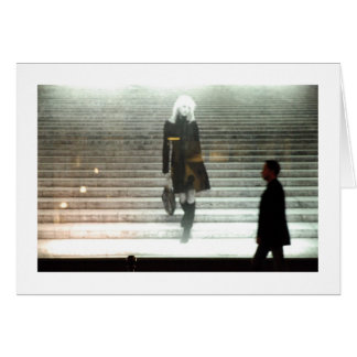 GIRL ON STAIRS / NEW LIFE Card Greeting Cards
