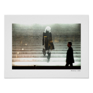 GIRL ON STAIRS / NEW LIFE Poster Print
