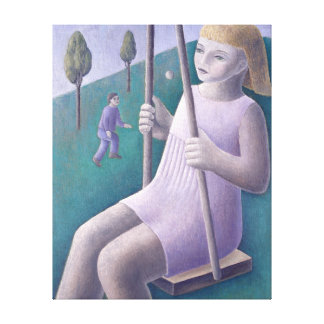 Girl on Swing 1996 Canvas Print