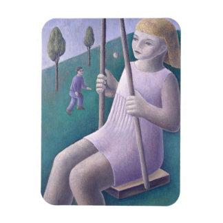 Girl on Swing 1996 Magnet