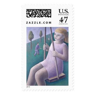 Girl on Swing 1996 Postage