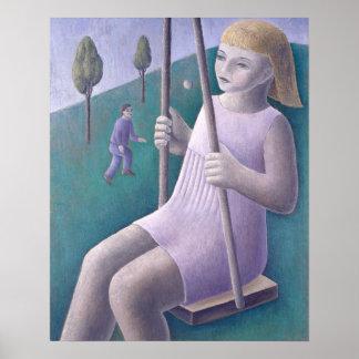 Girl on Swing 1996 Poster