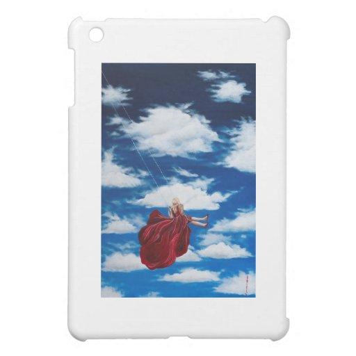 Girl on swing in clouds iPad mini covers