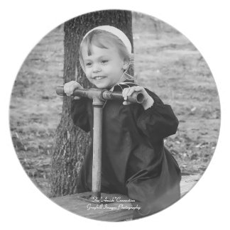 Girl On Teeter Totter Melamine Plate
