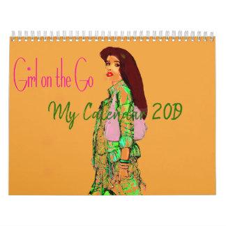 Girl on the Go 2017 Calendar by artist