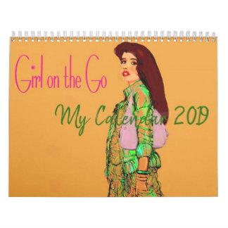 Girl on the Go 2019 Calendar by artist