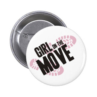 Girl on the Move Buttons