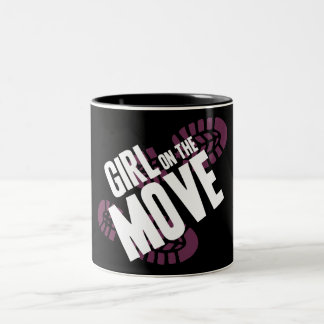 Girl on the Move Two-Tone Coffee Mug