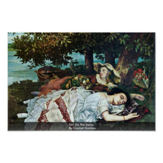 Girl On The Seine,  By Courbet Gustave Posters