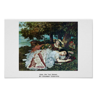 Girl On The Seine,  By Courbet Gustave Print