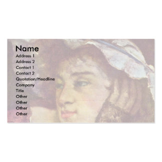 Girl On The Seine Details By Courbet Gustave Double-Sided Standard Business Cards (Pack Of 100)