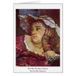 Girl On The Seine Details By Courbet Gustave Cards