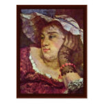 Girl On The Seine Details By Courbet Gustave Post Card