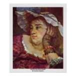Girl On The Seine Details By Courbet Gustave Poster