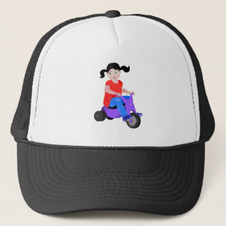Girl on Tricycle Trucker Hat