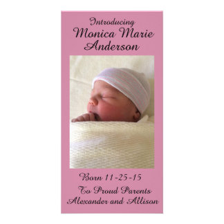 Girl or Boy Baby Announcement Personalized 4x8