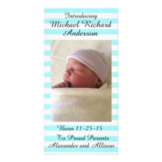 Girl or Boy Baby Announcement Personalized 8x4