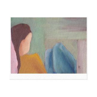 Girl Original Oil Painting Art on Canvas