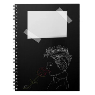 Girl outlines Notebook (80 Pages B&W)