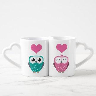 Girl Owl & Boy Owl in Love Coffee Mug Set