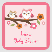 Girl Owl Forest Envelope Seals Stickers