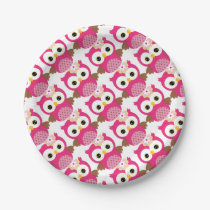 Girl Owl Party Pack Paper Plate