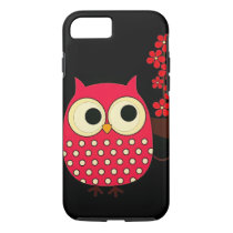 Girl Owl with Flowers iPhone 7 Case