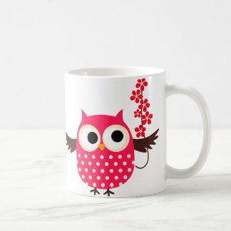 Girl Owl with Flowers Mug