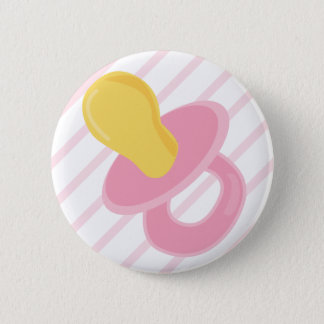 Girl Pacifier Button