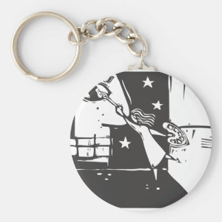 Girl Painting Mural Keychain