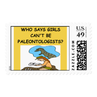 GIRL paleontologist Postage