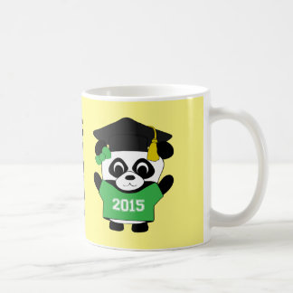 Girl Panda Grad Wearing Green & White 2015 Tee Coffee Mug