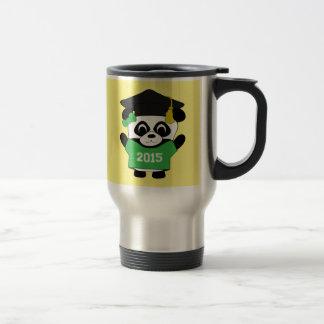 Girl Panda Grad Wearing Green & White 2015 Tee Travel Mug