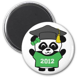 Girl Panda Green White 2012 Grad Magnet