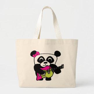 Girl Panda Guitar Fun Canvas Bag