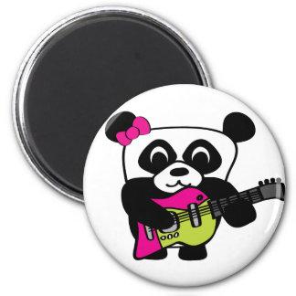 Girl Panda Guitar Fun Magnet