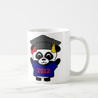 Girl Panda Navy Blue & Red 2012 Grad Coffee Mug