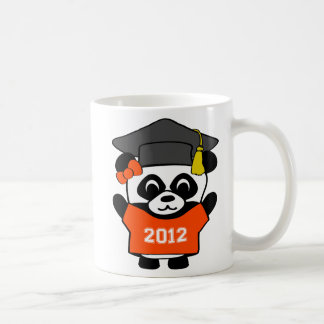 Girl Panda Orange & White 2012 Grad Coffee Mug