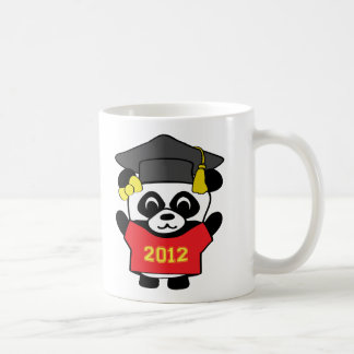 Girl Panda Red & Gold 2012 Grad Coffee Mug