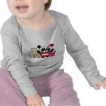 Girl Panda with Sandcastle Tee Shirt
