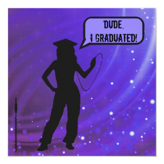 Girl Pants Dude I Graduated Music Lover Graduation Card