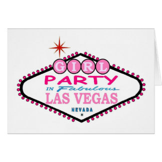 GIRL Party In Fabulous Las Vegas PINK Card