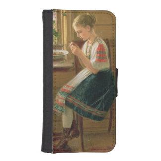 Girl Peeling Berries, 1880 Phone Wallet Cases