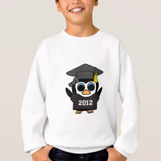 Girl Penguin Black & White 2012 Grad Sweatshirt