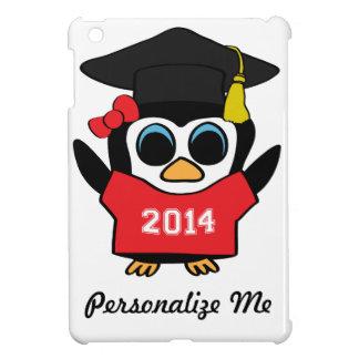 Girl Penguin Grad Wearing Red & White 2014 Tee iPad Mini Cover
