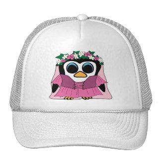 Girl Penguin in Renaissance Dress Trucker Hat