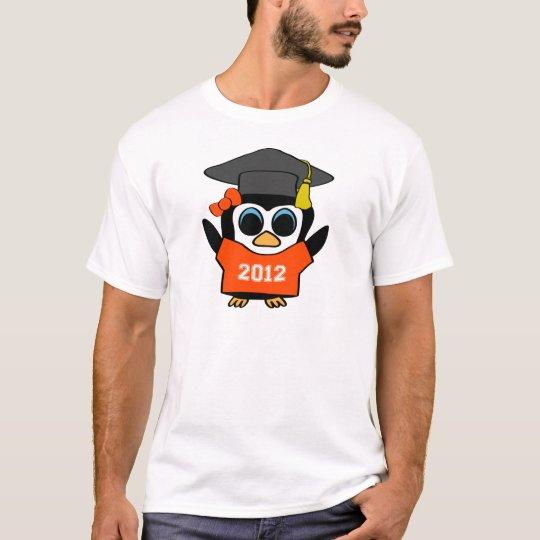 Girl Penguin Orange & White 2012 Grad T-Shirt