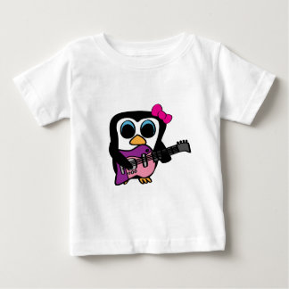 Girl Penguin with Electric Guitar Baby T-Shirt