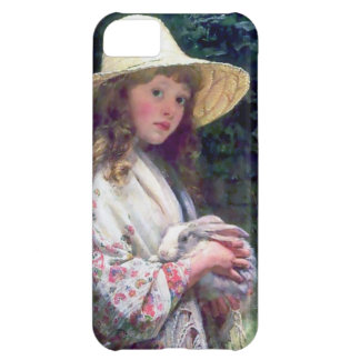Girl Pet Bunny Rabbit Painting Case For iPhone 5C